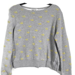 Wildfox Whale Print Sweatshirt Size Medium